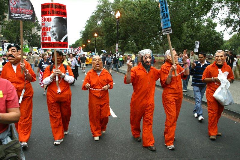 Condi Rice, Saddam, Osama Rumsfeld, Bush & Colin Powell