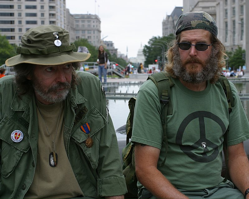 Vietnam Vets with Capitol in background