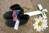 Boots of fallen soldier