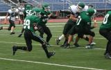 Chris Perry returning a kickoff late in the 1st half