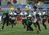 Evan Ekstrom tackling the Spartan QB