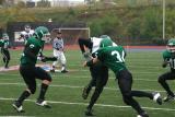 Jimmy Kvassay tackling the Spartan receiver