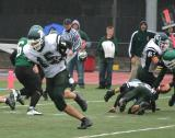 Dan Brehl recovering a Spartan fumble inside the Saints ten yard line