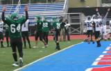 Luke Daly scores a touchdown from the eight yard line late in the 4th quarter