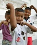 Playful kids at Wat Pho, Bangkok