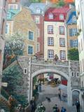Quebec City's Mural (Trompe-L'oeil)