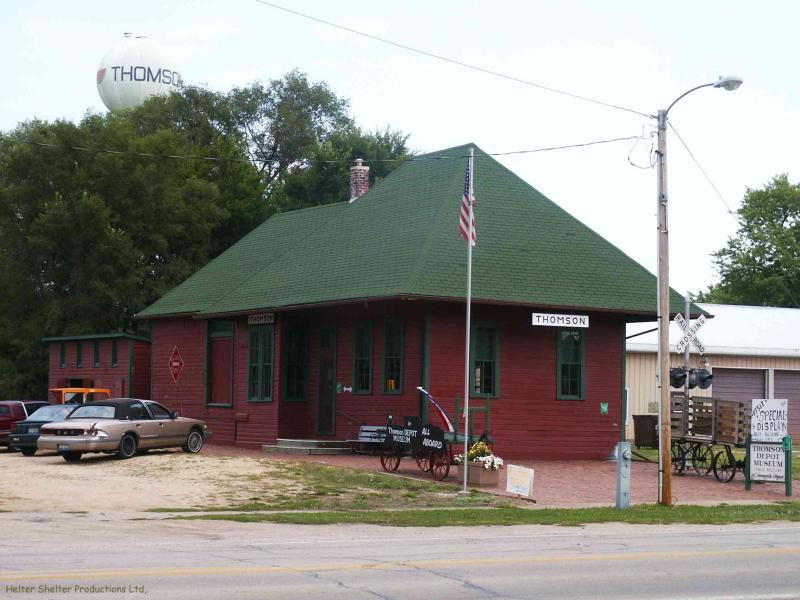 Chicago, Burlington & Quincy Depot,Thomson, Illinois