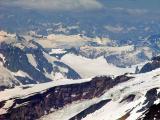 Flying over the Alaska Range