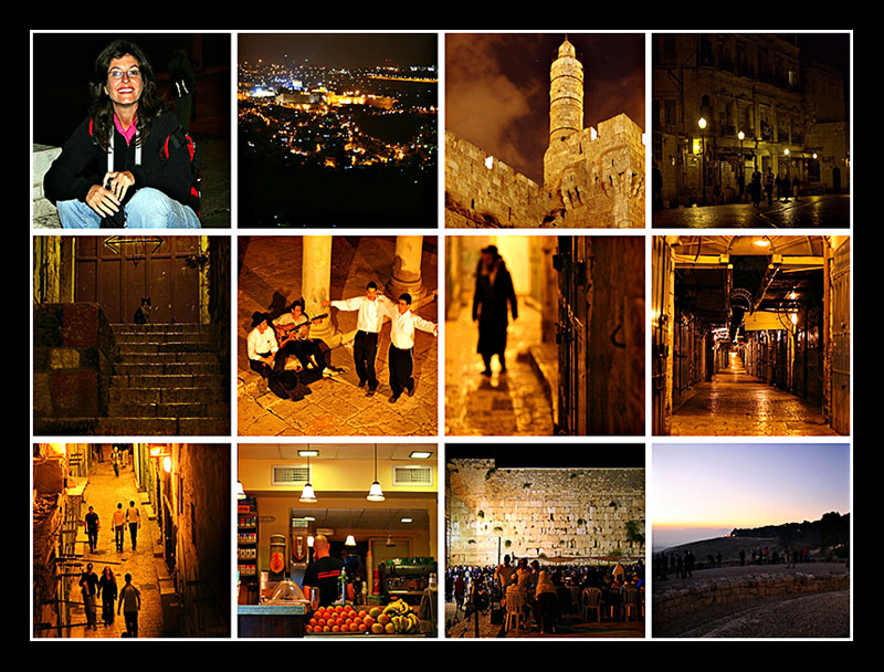 Collage of our Night Trip during Shlichot (Repentence Period in the Jewish Calender)