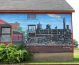 Train Mural In Windsor