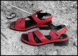 Red Shoes On Beach