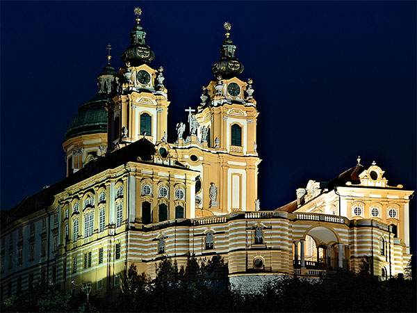 Melk (Austria): Benedictine Abbey by Night