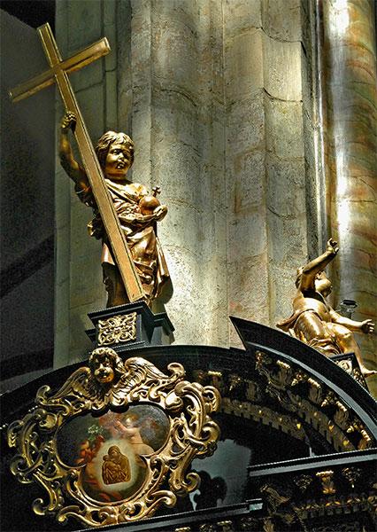 Prague: Church Interior, Detail