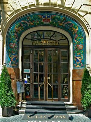 Prague: Art Nouveau Hotel Entrance