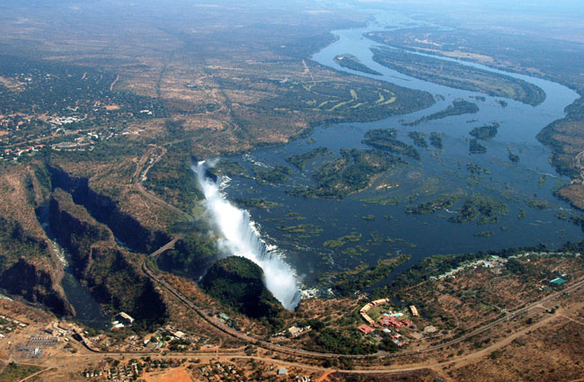 Victoria Falls, viewed from the Zambian side
