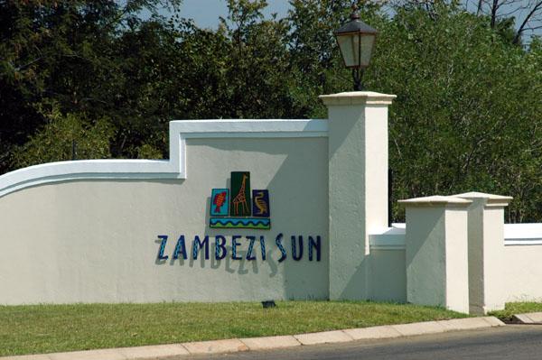 Entrance to the Zambezi Sun