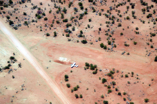 V5-JOG on the ground at Epupa Falls