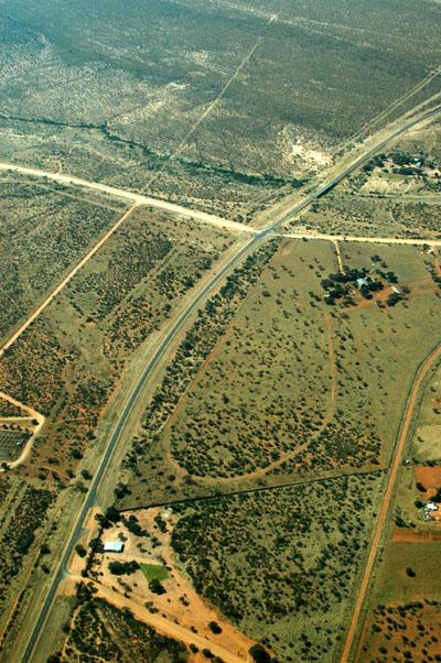 A paved road! The Trans Kalahari Highway