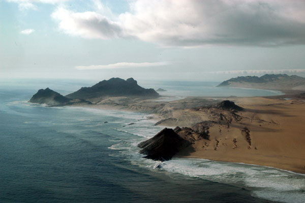 Dolphin Head, Namibia, looking north towards Spencer Bay