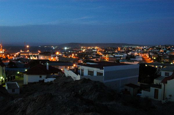 The lights coming on in Lüderitz