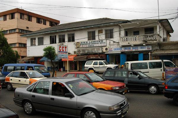 Traffic backed up on Kwame Nkrumah Avenue, Accra