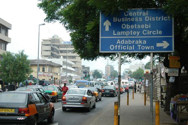 Traffic jam, Nkrumah Ave, Adabraka