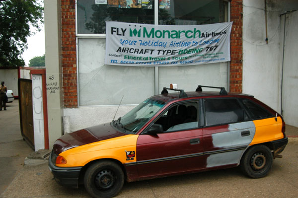 Monarch flies weekly to London