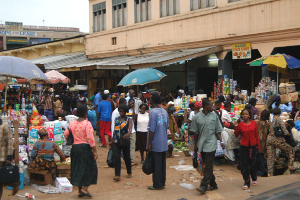 Busy Station Road, Accra Central Business District