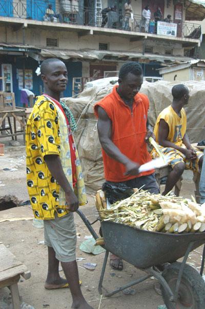 Sugar Cane vendor, Central Accra