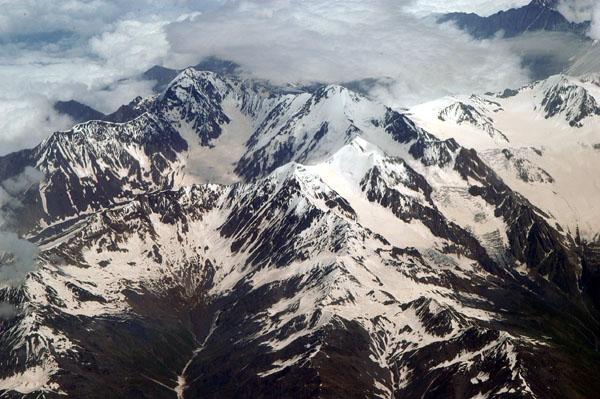 Caucasus Mountains, Georgia-Russia border