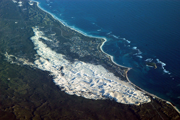 Sandy coast of Western Australia north of Perth