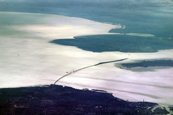 Bridge-Tunnel from Malmö, Sweden to Copenhagen, Denmark