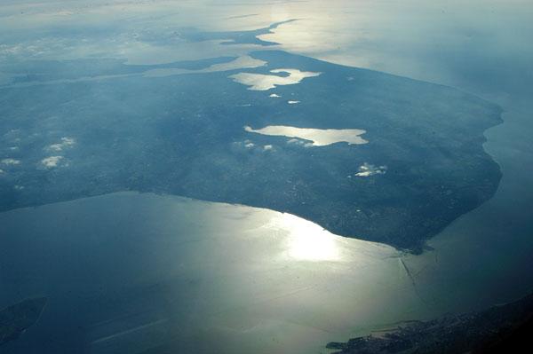 Øresund, separating Helsingborg, Sweden from Danish Zeeland