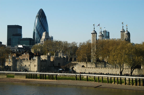 The Tower of London and Swiss Re Tower