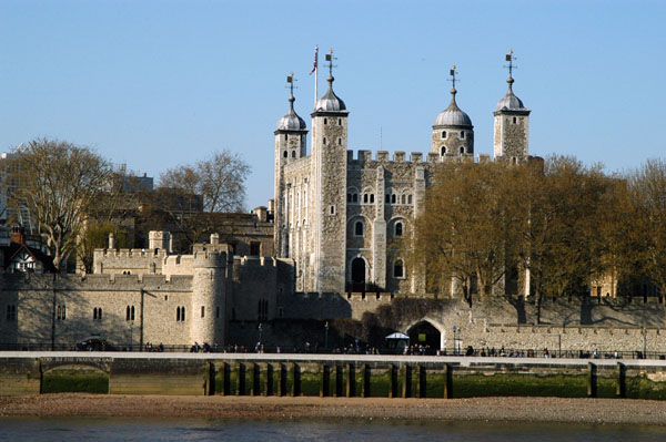 The Tower of London seen from the opposite side of the Thames