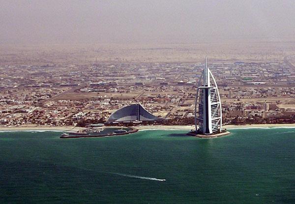 The Burj al Arab and Jumeriah Beach Hotel