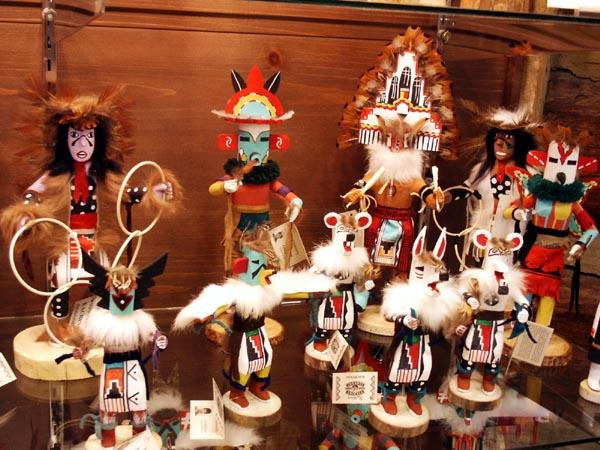 Hopi Kachina dolls, Cameron, AZ