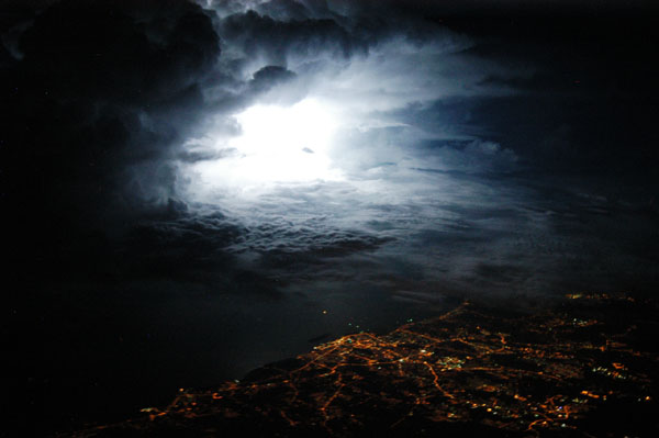 Thunderstorm over Melaka, Malaysia