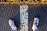 The border on the Victoria Falls Bridge