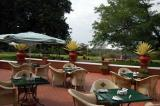 Patio dining at the Victoria Falls Hotel