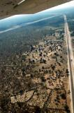 Crossing the Caprivi Highway on approach to Katima's Mpacha Airport