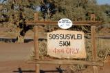 5 km prior to Sossusvlei is the 2-WD parking lot