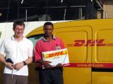 The first of many DHL shots
