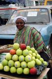 Apple vendor, Nkrumah Circle market