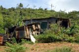 Rundown shacks like this aren't common on Mahé