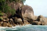 Typical Seychelles granite boulders