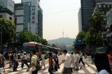 Seoul Tower in the hazy distance