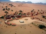 Flying over Sossusvlei Lodge on arrival