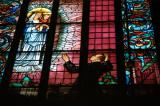 Stained glass, St. Mary's Church, Krakow