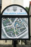 Walking tour map of Krakow's Jewish quarter